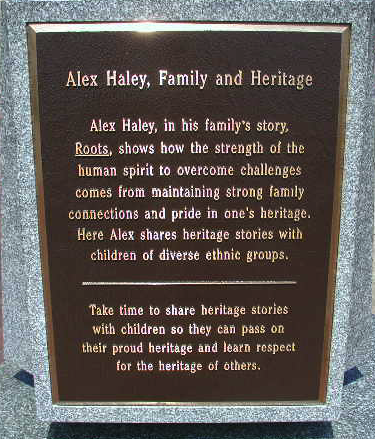 Kunta Kinte-Alex Haley Memorial Sculpture Group Plaque