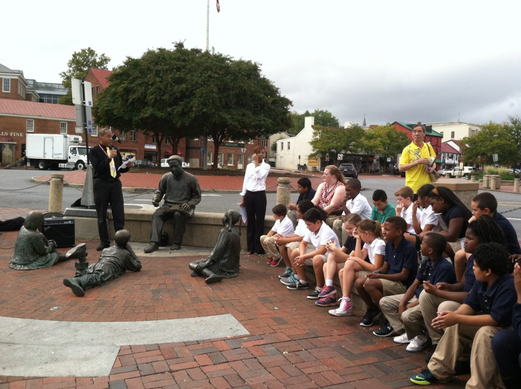 Chris Haley speaks at the 2015 Annual Arrival Ceremony