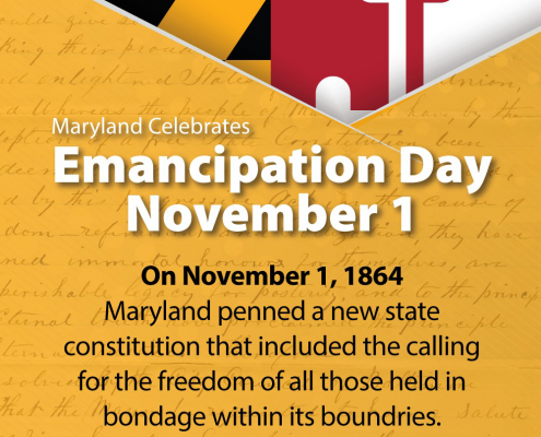 Maryland Celebrates Emancipation Day on November 1, 2020