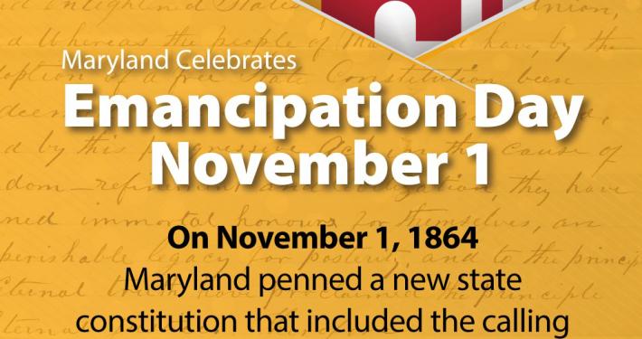 Maryland Celebrates Emancipation Day on November 1, 2020